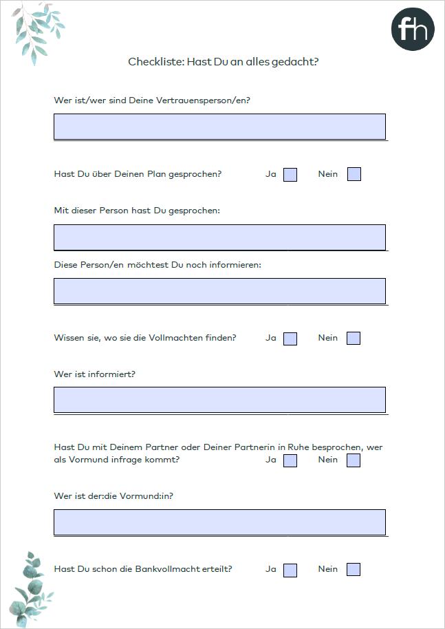 Vorschau Download Checkliste