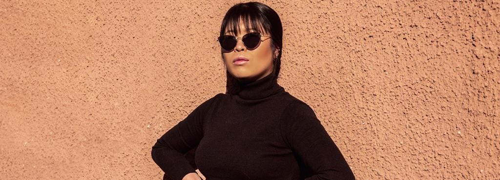 Euni Kim mit Sonnenbrille